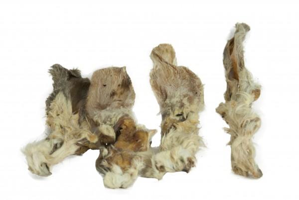 Kaninchenohren mit Fell, 100g