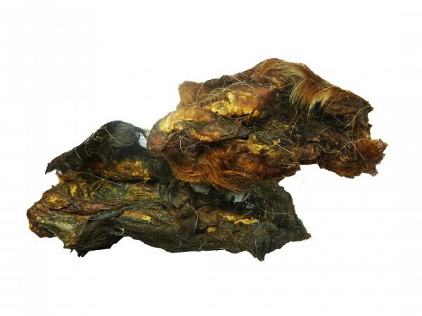 Rinderkopfhaut mit Fell, ca. 12 cm Stücke 500 Gramm