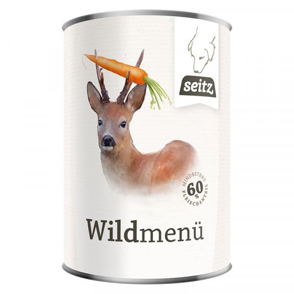 Wildmenü: Rind & Wild mit Karotten & Nudeln