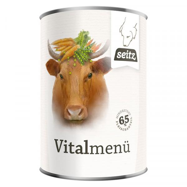 Vitalmenü: Rind & Geflügel mit Karotten & Erbsen